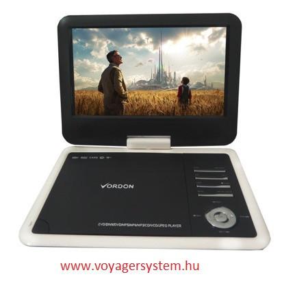 VORDON NS-760 Hordozható DVD lejátszó  DVD/SD/USB/AV,