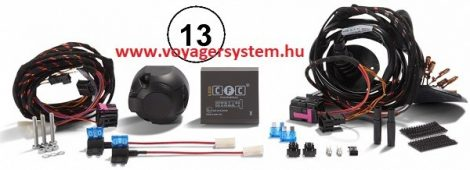 Vonóhorog elektromos csatlakozó készlet 13 pin  Universal
