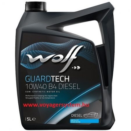 WOLF Guardtech 10w40 motorolaj DIESEL 5+1 Liter